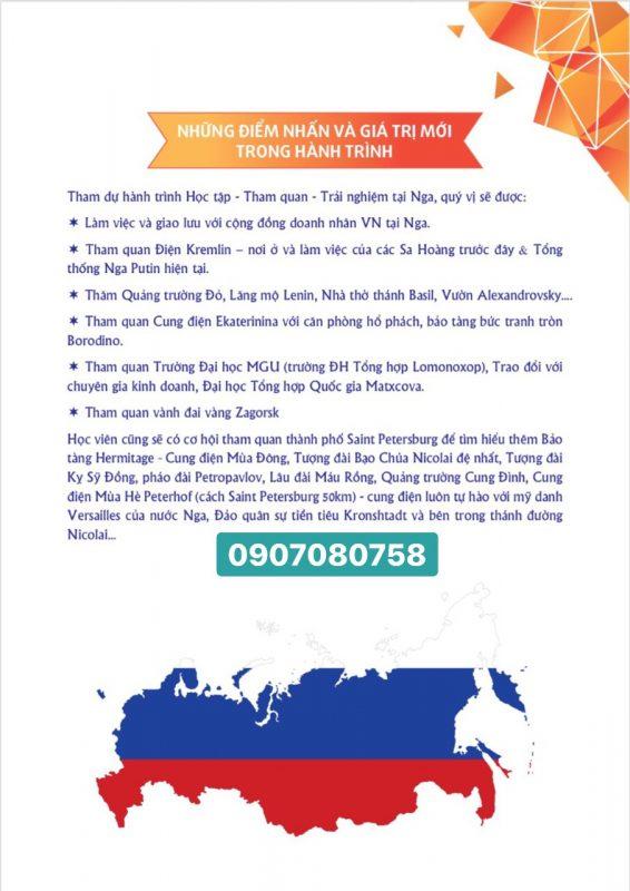 Học tập - Tham quan - Trải nghiệm tại Nga 03/07/2019 - 09/07/2019